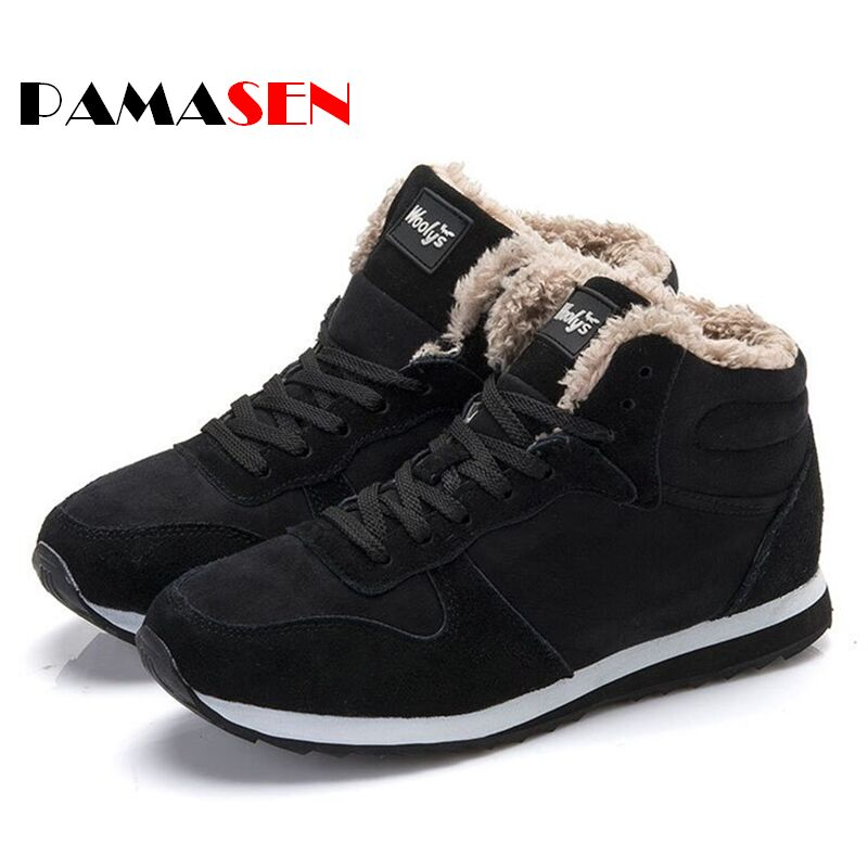 2017 Couple Unisex Boot Fashion Men Winter Snow Boots keep Warm Boots Plush Ankle Snow Work Shoes Mens Outdoor Snow Boots 36-47<br><br>Aliexpress