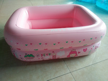 Wholesale 110*90*40cm Eco-friendly PVC Thicken rectangle Inflatable Baby paddling pool Colorful Ocean balls pool(China)