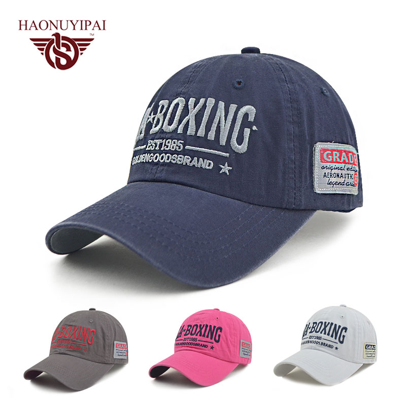 New Brand Baseball Caps Fashion Men Women Cotton Cap Casual Letter La Boxing Hat Adjustable Sports Polo Golf Cap ZB014(China)