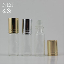 5ml Glass Roller Bottle Cosmetic Women Perfume Essential Oil Sample Packaging Roll on Containers Free Shipping(China)
