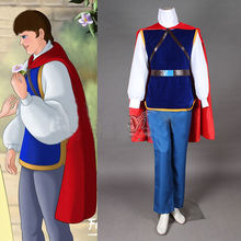Fairy Snow White and the Seven Dwarfs Pince Charming  Cosplay Prince Costume Any Size