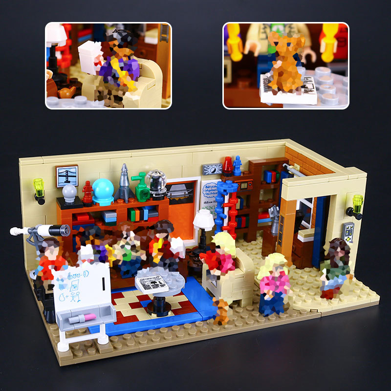 Lepin New 16024 Ideas Series The Big Bang Theory Model Building Block Set Compatible 21302 Classic House Living Room Toy for Kid<br>