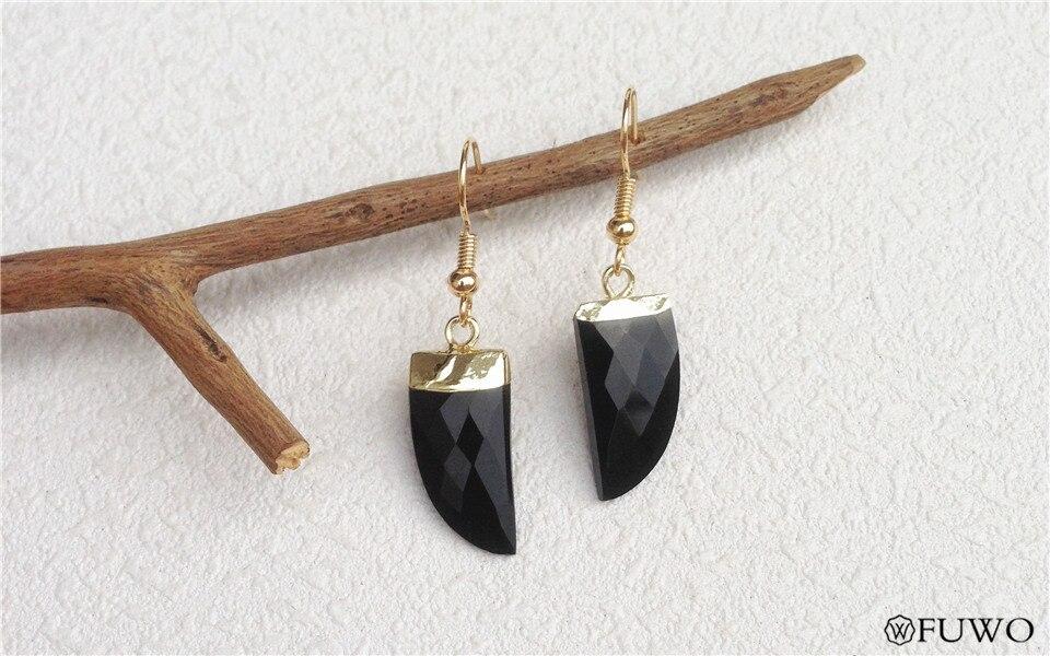 Natural Black Onyx Earrings 11
