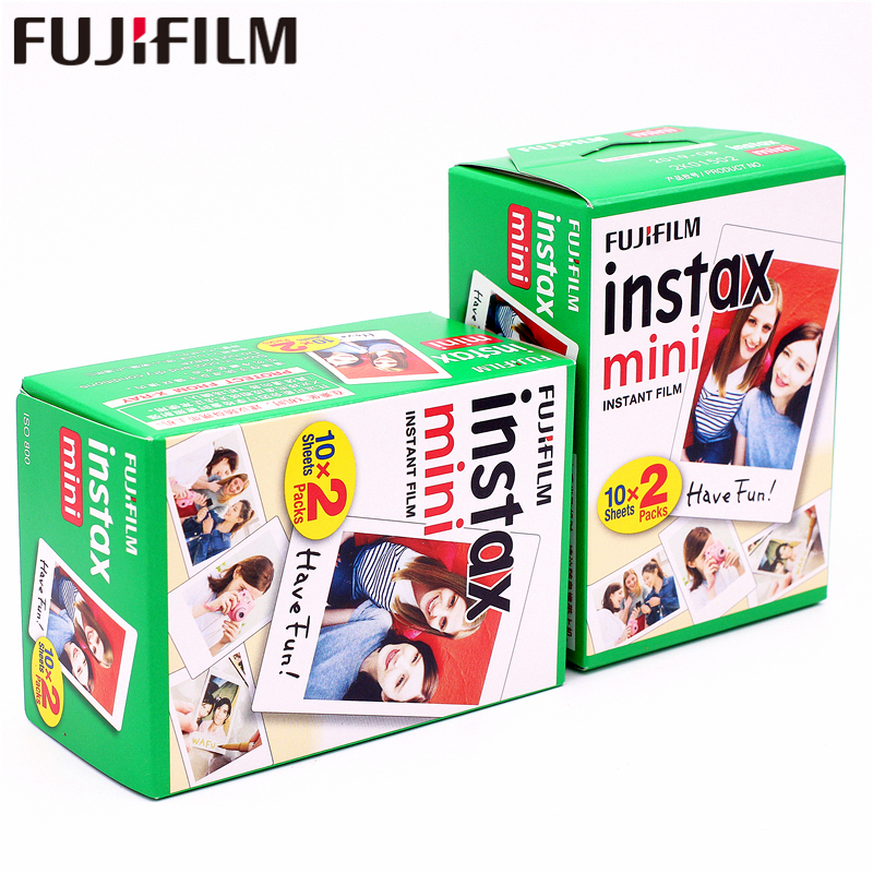 Fuji Instax Mini White Films 40sheets Instant Instax Photo Paper For Fujifilm Instax Mini 9 8 7s 7 25 50s 90 70 SP-1 SP-2 Camera<br>