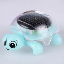 4 Colors Cute Mini Moved Solar Energy Gadget Gift Cute Turtle Educational Toy For Kids Gift(China)