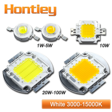 Hontiey High power LED chip White light bulbs 1W 3W 5W 10W 20W 30W 50W 100W Warm Natural Cool White integrated lamp 3000k-15000K