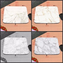 Mairuige Shop  Modern Faux Gold Glitter Marble Unique Desktop Pad Mousepads Computer Animation Round Mouse Mat Mice Pad As Gift