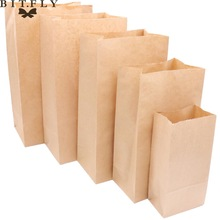 50pcs Kraft Paper Bags Food tea Small Gift Bags toaster Sandwich Bread Bags Party Wedding supplies Wrapping Gift takeout Bags