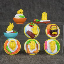 New arrival 8pcs/lot Gudetama lazy egg yolk brother Gudetama pvc action figure ornaments toy(China)