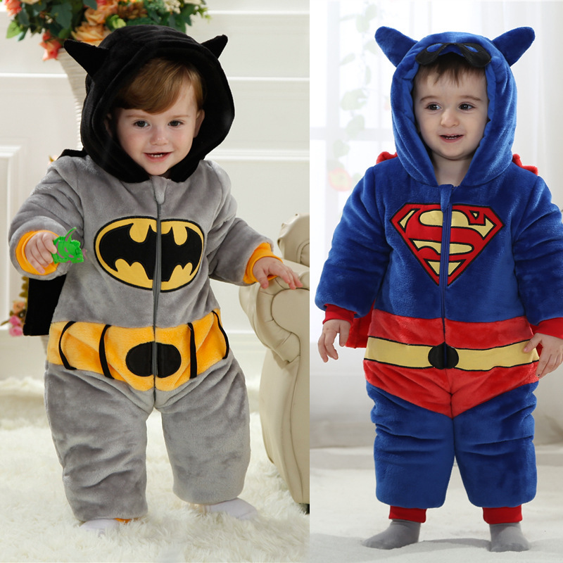 Full winter baby rompers thermal style,hero costume for photograph<br>