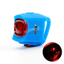 Leadbike Bicycle Rear Light 2 Modes LED Silicone Warning Light MTB Road Bike Accessories 5 Colors Free Shipping(China)