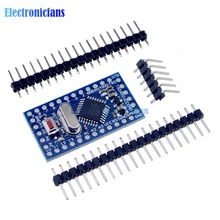 Free Shipping Pro Mini atmega328 Mini ATMEGA328P 5V 16MHz Module With Crystal Oscillator Pins Replace ATMEGA128 for Arduino Nano