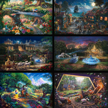 Thomas Kinkade Princess Elves Fairy HD Canvas Print Canvas Painting Artists Large Wall Pictures Art Painting Home Decoration