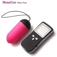 HoozGee Sexual Health Classic LCD Remote Wireless Vibrating Egg Female Sex Toys 10 Speed Bullet Vibrator Sex Products(China)