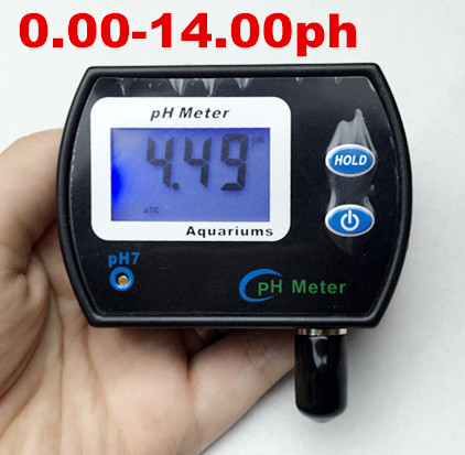new arrive large screen Multi-parameter Water Quality Monitor Tester pH Meter for Aquarium Acidometer with plug<br>
