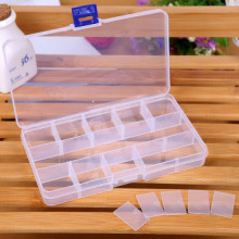Free Shipping DIY New 15 Grid Plastic Transparent Jewel Case Box