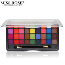 1PC 36 Color Eyeshadow Palette Make Up Palette Women Bright Matte Shimmer Colorful Makeup Eye Shadow Set Cosmetic With Brush