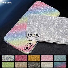 FKISSME Glitter Sticker Bling Diamond Full Body Protector Front Back Cover Sparkly Film Decal For iPhone 7 Plus X 8 6 6S Plus 5S(China)