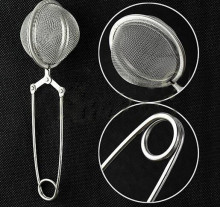 1 Pcs Loose Spring Spoon Tea Mesh Ball Infuser Filter Teaspoon Squeeze Creative Strainer Metal Stainless Steel Handle Spoon