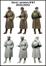 [tuskmodel] 1 35 scale resin model figures kit WW2 soviet Soldiers 4345(China)