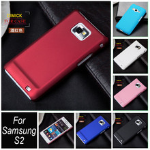 Ultra Thin Frosted Rubber Matte Case Hood Shell For Samsung Galaxy S2 S II i9100 9100 Oil-coated Hybrid Phone Cover Capa Cases