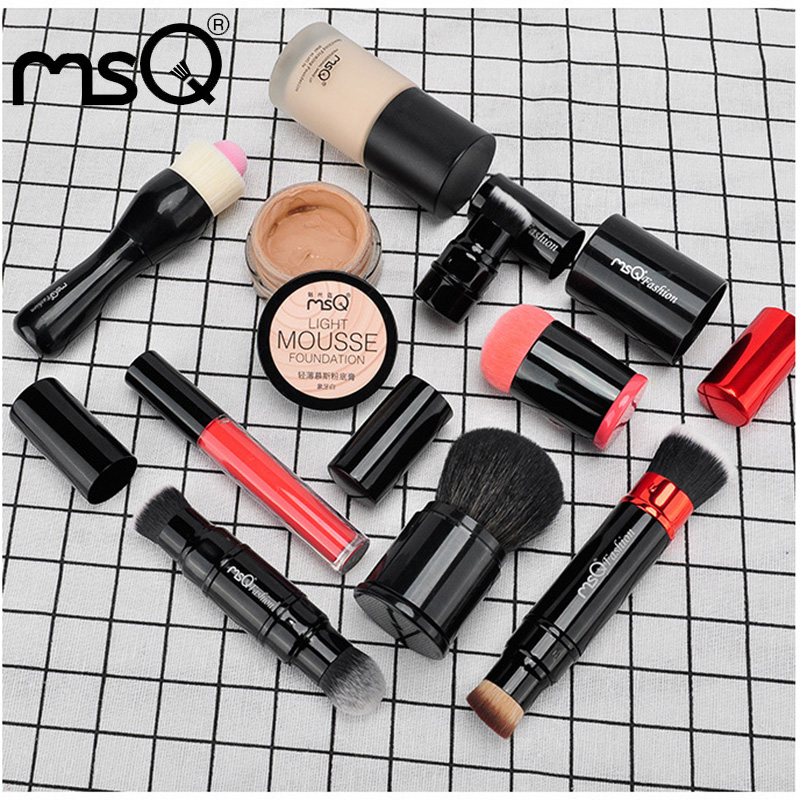 MSQ High Quality 6Pcs Makeup Brushes Set Include Professional Make Up Foundation Powder Blush Brushes With Metal Handle<br>