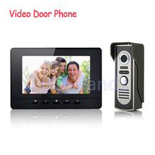 High Quality 7`` TFT Wired Color Video door phone Intercom Doorbell System Kit IR Camera doorphone monitor Speakerphone