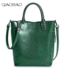 QIAOBAO 2017 Women handbags Ladies Cow Leather Commuter Office tote bag Women's Pouch Bolsas Famous Ladys Flap bag High Quality