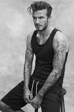 Custom Canvas Wall Decor Football Player David Beckham Poster Soccer Ball Wall Stickers Office Wallpaper Vintage Sticker #2182#(China)
