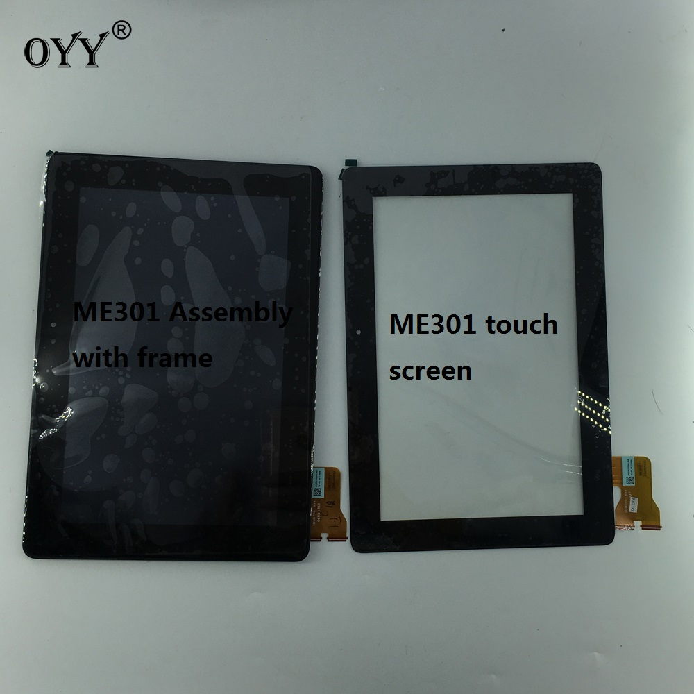 LCD Display Touch Screen Digitizer Glass Assembly with frame For Asus MeMo Pad Smart ME301 ME301T K001 TF301T 5280N VERSION<br>