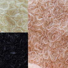 Nailwort stereo 3D Chiffon flannel free textured embroidery winter garment fabric 38 yuan half code recommended(China)