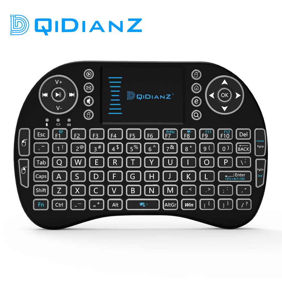 Wireless-Keyboard Game Pc Touchpad-Qwerty Usb-Receiver Remote-Control Smart Mini Android title=