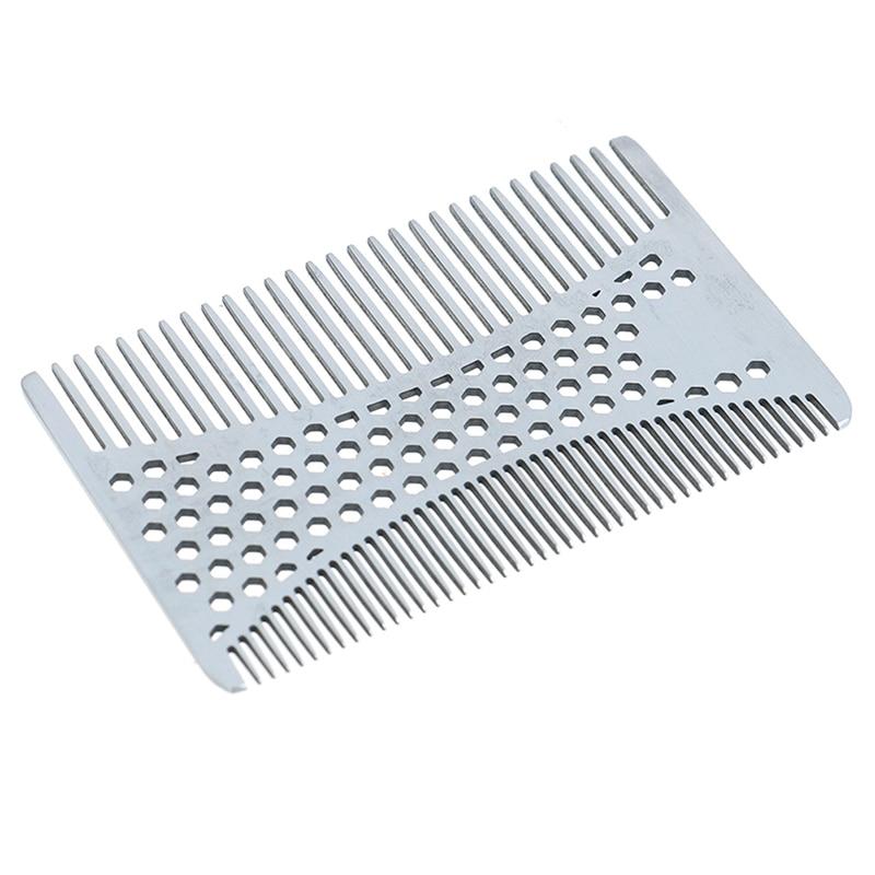NEW 1pc Stainless Steel Beard Comb Men