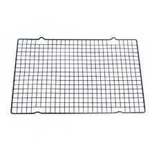 25.5*40cm Black Rectangular Metal Mesh Nonstick Cake Cooling Rack Net For Pies And Cakes Baking