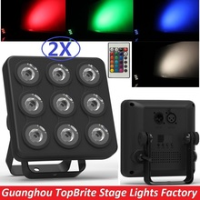2017 Led Show Panel Flat LED Par Light 9x4W RGBW / RGB-UV Disco Lamp Stage Lights Luces Discoteca Laser Beam Projector Lumiere(China)
