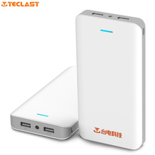 Original Teclast T200N 20000mAh Power Bank LED Bright Lights Dual USB Ports High Capacity External Battery Pack Mobile PowerBank(China)