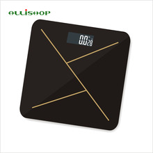 ALLiSHOP fashion intelligent bathroom scales 180kg/400lb Digital large scales Temperature BMI index Difference comparison scale