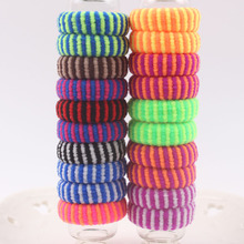 2017 elastic hair bands rubber fashion Watermelon skin style Striped Black scrunchy girls Hair accessories for kids 10pcs/lot