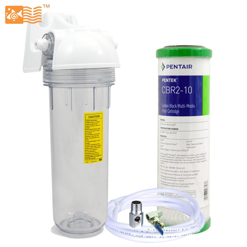 Coronwater Household Single Stage Undersink Water Filter System 0.5micron Activated Carbon and Lead Remove for Water Purifier<br>