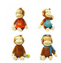"12"" CURIOUS GEORGE PLUSH DOLL BOOTS MONKEY PLUSH STUFFED Animal TOYS For Baby Girls"