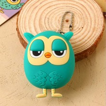 1PCS Birthday Christmas Gift 3D Owl Design Portable Cute Cartoon Nail Clipper Nail Cutter Manicure Tools For Girl Boy Kids