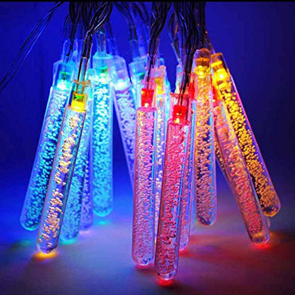Solar Outdoor String Light ICICLE Water Drop LEDs Fairy Lighting for Garden Fence Patio Christmas Wedding Party Home and Holiday<br><br>Aliexpress
