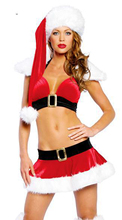 2016 new year Santa Suit Halloween Costumes Uniforms Sexy Temptation Three Christmas Costumes Lingerie Uniform