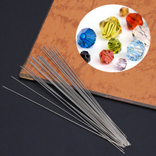 Arts Crafts Sewing DIY Craft Supplies 30 x Beading Needles Threading String Cord Jewelry Craft Making Tool 0.6 x 120mm(China)