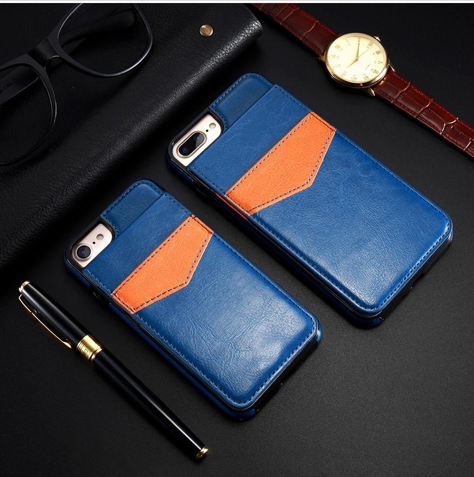 crazy horse vertical flip cover for iPhone 6 7 Plus (8)