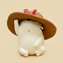 Miyazaki Hayao My Neighbor Totoro Toys Cute White Totoro With Straw Hat Resin Action Figure Collection Model Toy for Kids Gifts