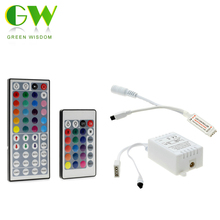 LED RGB Remote Controller DC12V Mini 44Key / 24Key IR Remote Controller For 3528 5050 RGB LED Strip(China)