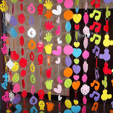 1.5m DIY Cartoon Door Curtain Hanging Pendant For Kid Room Garland Colorful Baby Party Birthday Decoration Hanging New(China)