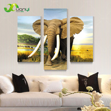 3 Piece Canvas Wall Art Modern Painting Elephant Oil Painting Home Decoration For Living Room Canvas Print Unframed PR1220