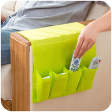 Simple oxford cloth sofa side pouch, remote control storage bags, chair armrest debris hang the bag